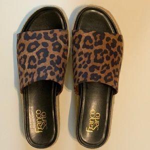 FRANCO SARTO Wedge Sandals Leopard Tola Espadrille